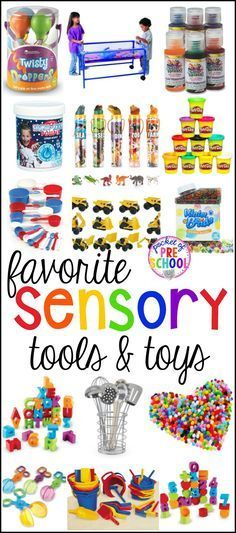 My Favorite Sensory Table Tools and Toys perfect for Preschool and Kindergarten classrooms to build to teach important math, science, and literacy concepts and skills as well as strengthen those fine motor muscles too.
