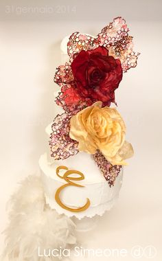 Erica CAKE Painted wafer paper flowers di Lucia Simeone ⓓⓛ