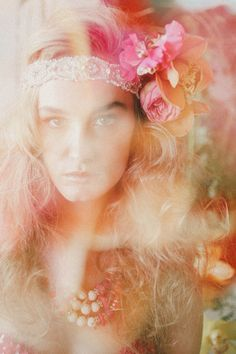 tropical bride w/ fun floral headpiece | Lara Hotz Photography for Hitched Magazine