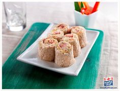 """Ham and Vegetable """"Sushi"""" School Lunch Recipes, Snack Recipes, Snacks, Yummy Wraps, Easy Food To Make, Yummy Appetizers, Creative Food, Kids Meals, Ham"""
