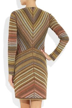 Missoni   Striped metallic crochet-knit dress   NET-A-PORTER.COM