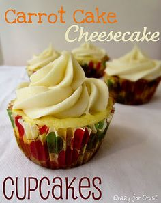 carrot cake cheesecake cupcakes...for after this crossfit diet challenge of course