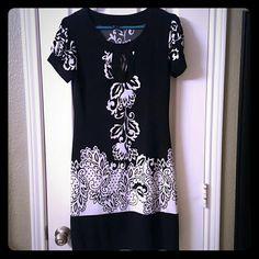 Spotted while shopping on Poshmark: Black & White sheath dress! #poshmark #fashion #shopping #style #Dresses & Skirts