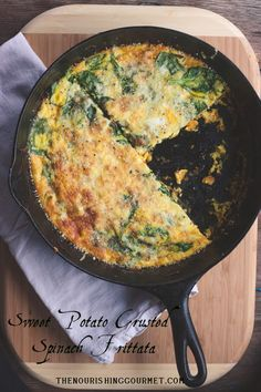 The Nourishing Gourmet-Spinach Frittata with a Sweet Potato Crust (very nutrient dense!)
