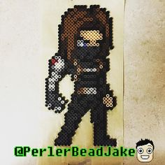 Bucky Barnes (The Winter Soldier) perler beads by  perlerbeadjake