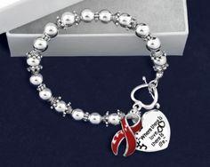12 AIDS Red Ribbon Retractable Charm Bracelets 12 Bracelets