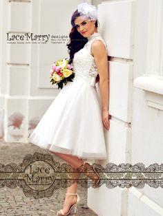 Custom Short Wedding Dress Knee Length Wedding Dresses Short Short Girl Wedding  Dress fe4f6f05621e