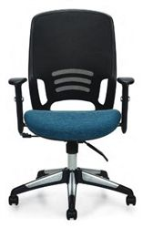 Offices To Go Modern High Back Office Chair with Designer Fabric Seat