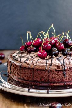 """Chocolate Cherry Cheesecake für """"Herzfutter"""""""