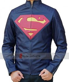 Man of Steel Jacket Blue Leather For Men's. Get Superman Jacket Costume worn by Henry Cavill as Clark Kent / Kal-El in Lowest Price at Fjackets.com