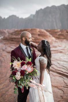 Elegant African-Inspired Mountain Wedding