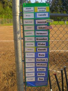 Awesome idea for baseball/t-ball dugout organization.   @carpentersfaith