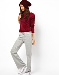 $21.42 quite cheap... sometimes i really need something like this.. Image 1 ofASOS Slouch Swatpants in Wide Leg