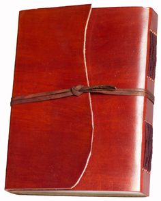"""Amazon.com : INDIARY Buffalo Leather Writing Journal With Strap Closure And Handmade Paper 6x4"""" - Circle : Writing Notebooks : Office Products"""