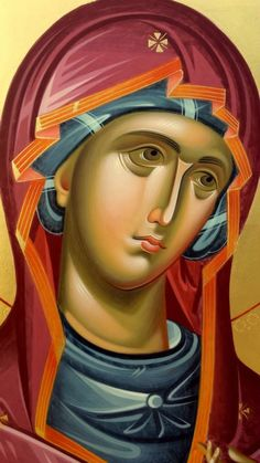 Mother of God -Orthodox icon Religious Images, Religious Icons, Religious Art, Byzantine Icons, Byzantine Art, Madonna, Greek Icons, Spiritual Paintings, Paint Icon