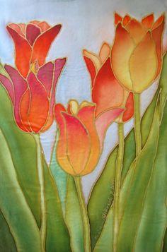 Silk painting  http://flowersonsilk.blogspot.com/