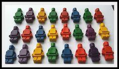 Lego Mini Figure Crayons  Set of 8  Crayon Sets  by CrayonShapes, $4.00