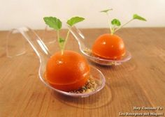 Hoy Cocinas Tú: Tomates sorpresa No Cook Appetizers, Food Decoration, Canapes, Finger Foods, Gourmet Recipes, Catering, Food And Drink, Dishes, Vegetables