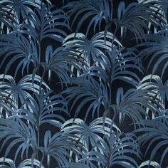 Palmeral is House of Hackney's iconic palm leaf print. In shades of midnight-blue and azure, this cotton linen fabric is suitable for blinds, curtains and upholstery projects. Palm Leaf Wallpaper, Print Wallpaper, Pattern Wallpaper, Fabric Wallpaper, Motivational Wallpaper, Inspirational Wallpapers, Luxury Wallpaper, Home Wallpaper, House Of Hackney Wallpaper