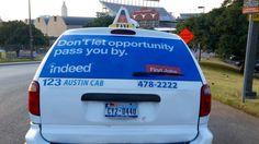 Austin Taxi Advertising   #taxiadvertising #taximediasolutions #indeed #austin #texas #ooh  #taxitopaustin #taxiadvertisingaustin