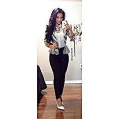 #workootd  | Blazer: Charlotte Russe | Top: Dd's | Necklace & Pants: H&M | Heels: Shoelicious |