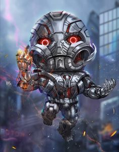 #Ultron #Fan #Art. (Chibi Ultron) By: Surasak Jaipuk. (THE * 5 * STÅR * ÅWARD * OF: * AW YEAH, IT'S MAJOR ÅWESOMENESS!!!™)[THANK Ü 4 PINNING!!!<·><]<©>ÅÅÅ+(OB4E)