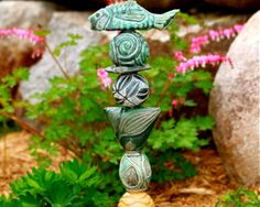 Laurie Landry Pottery - Totems and other stoneware