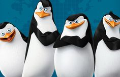 The Penguins of Madagascar Dreamworks Movie 2014 Wallpaper