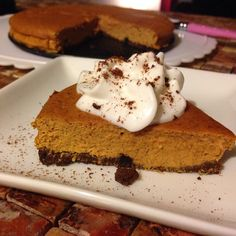 Pumpkin Protein Pie with Chocolate & Quest Crust