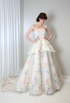 View entire slideshow: 7 Watercolor Wedding Dresses as Pretty as a Work of Art on http://www.stylemepretty.com/collection/1947/