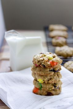 Monster Trail Mix Cookies #football #food #yum
