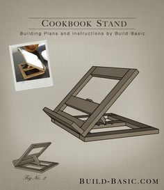 Build a Cookbook Stand - Building Plans by @BuildBasic www.build-basic.com  thoughtful hostess gift for your next gathering, this handmade cookbook stand is the perfect solution. With straightforward cuts &  simple assembly, this project comes together in no time. The design boasts hinges for fold-flat storage, and book holder that tilts to a range of viewing angles to accommodate any cook. #freewoodworkingplans #DIYhostessgift  #bookstand #DIYcookbookstand #quickwoodworkingproject