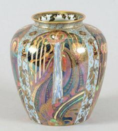 Wedgwood Fairyland lustre vase - decorated with the 'Candlemas' pattern