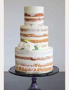 10 Sensational Semi-Naked Wedding Cakes ~  we ❤ this! moncheribridals.com #nakedweddingcake