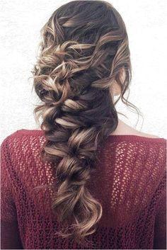 messy braid hairstyle for weddings Cute Prom Hairstyles, Trending Hairstyles, Down Hairstyles, Braided Hairstyles, Loose Side Braids, Side Ponytails, Messy Braids, 4 Strand Braids, Simple Prom Hair