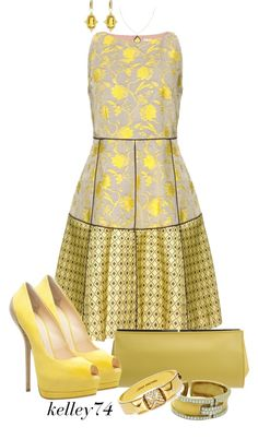 """Golden Girl"" by kelley74 on Polyvore"