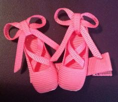 Ballerina shoes hair clip pink light pink white