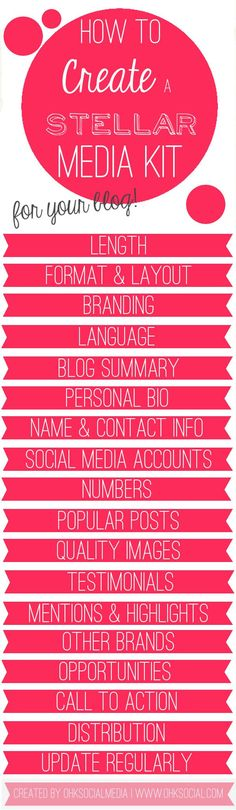 The decisive guide to creating a stellar media kit that gets you noticed & working with brands and sponsors. Marketing Online, Marketing Digital, Social Media Marketing, Content Marketing, Mobile Marketing, Make Money Blogging, How To Make Money, Blog Planning, Branding