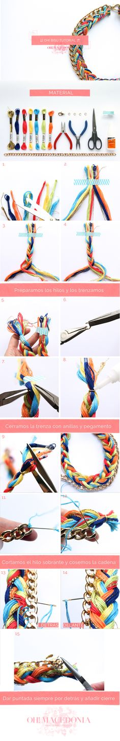 collar trenzado de Oh! Macedonia, necklace, DIY jewelry