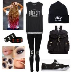 perfection by kayla-kn on Polyvore featuring polyvore fashion style Boohoo Vans Calvin Klein Kill Brand