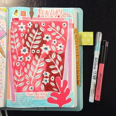 """eighterasers: """"Sunday in the #hobonichi! """""""