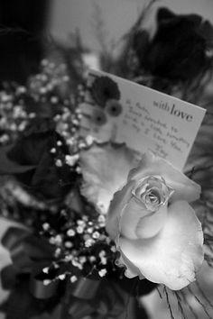 Black and White Photo Wedding Detail