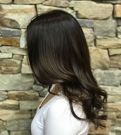 deep espresso glossy goodness made possible with Shades EQ (color by Dark Balayage, Balayage Color, Balayage Hair, Espresso Hair Color, Layerd Hair, Big Hair Dont Care, Glossy Hair, Fantasy Hair, Brown Hair Colors