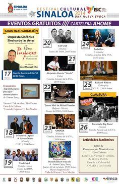 Festival Cultural Sinaloa 2014 Una Nueva Época, del 14 al 26 de Octubre en #Ahome