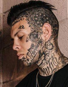 Full body tattoo, full neck tattoos, small face tattoos, small tattoos for Mens Face Tattoos, Full Neck Tattoos, Small Face Tattoos, Neck Tattoo For Guys, Full Body Tattoo, Head Tattoos, Life Tattoos, Body Art Tattoos, Sleeve Tattoos