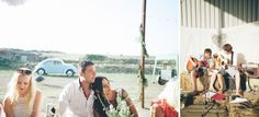 relaxed barn BBQ with acoustic music from the groom, nik & chris | an eco-friendly, handmade coastal welsh wedding » Home