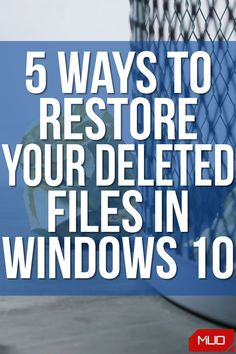 In this article, we'll show you how you can recover your files, including those you might've deleted permanently by mistake. #HowTo #DataRecovery #Recovery #Data #DataManagement #Windows #Windows10 #Microsoft Recovery Tools, Data Recovery, Recycle Bin Icon, The Undone, System Restore, Computer File, Windows Software, Best Windows, Classroom Rules