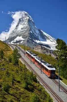Trem na montanha, na Suíça