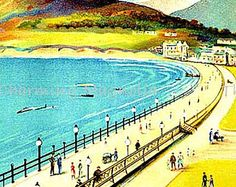 Vintage Bray Ireland Travel Poster Print Digital Download Printable Image Instant Download For DIY Paper Crafts