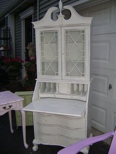 VIntAGe shabby chic secretary.can you see the hidden compartments?595.